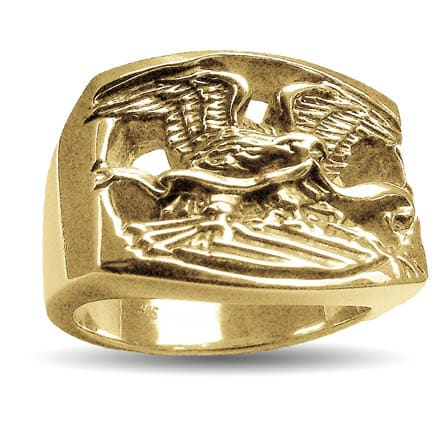 Gold Centennial Eagle Ring