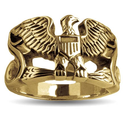 Gold Colonel Captain Eagle Ring