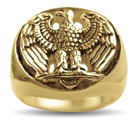 Gold Freedom Eagle Ring