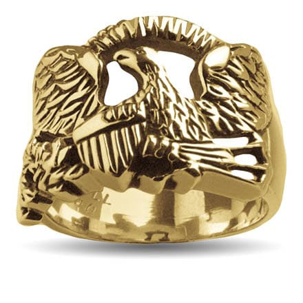 Gold Glory Eagle Ring