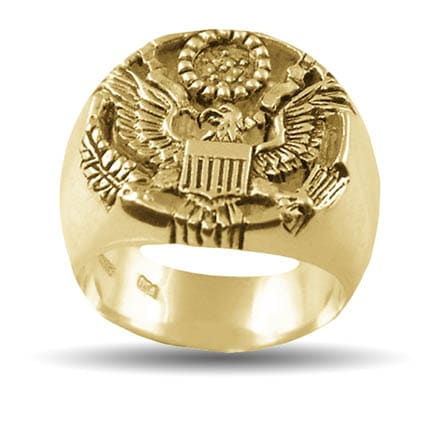 Gold Justice Eagle Ring