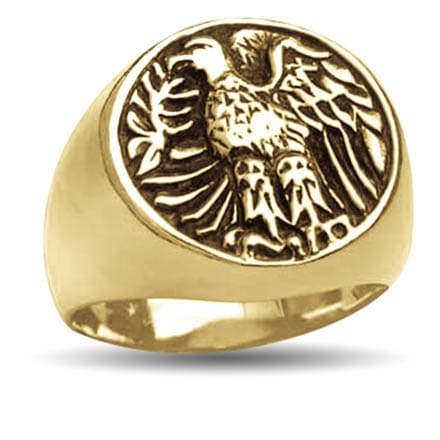 Gold Laureate Eagle Ring