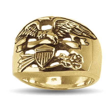 Gold Legacy Eagle Ring