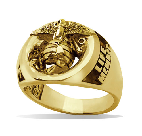 Gold Marine Corps Life Member Eagle Ring