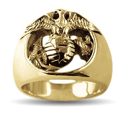Gold Marine Corps Eagle Ring by Mike Carroll