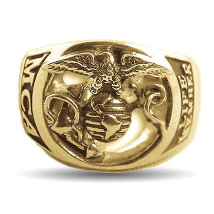 Gold Marine Corps Association Life Eagle Ring