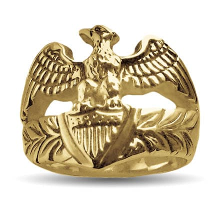 Gold Patriot Eagle Ring