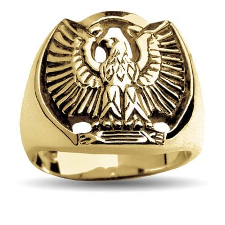 Gold ring phoenix eagle