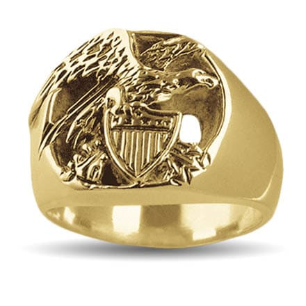 Gold Republic Eagle Ring
