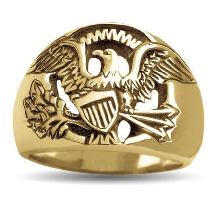 Gold Senator Eagle Ring