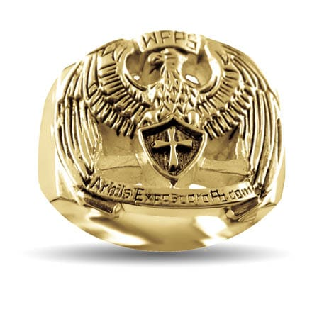 Gold WPPS Eagle Ring